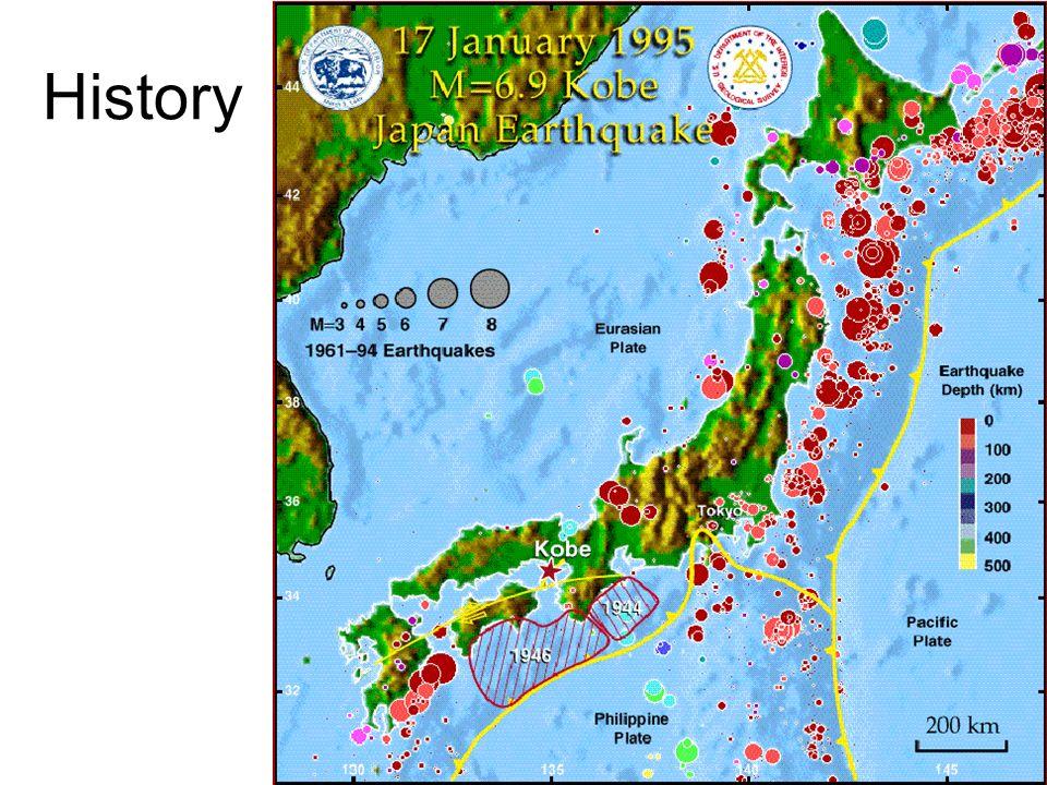 Kobe Japan Earthquake History Background Th January Am Local - Japan quake map 2016