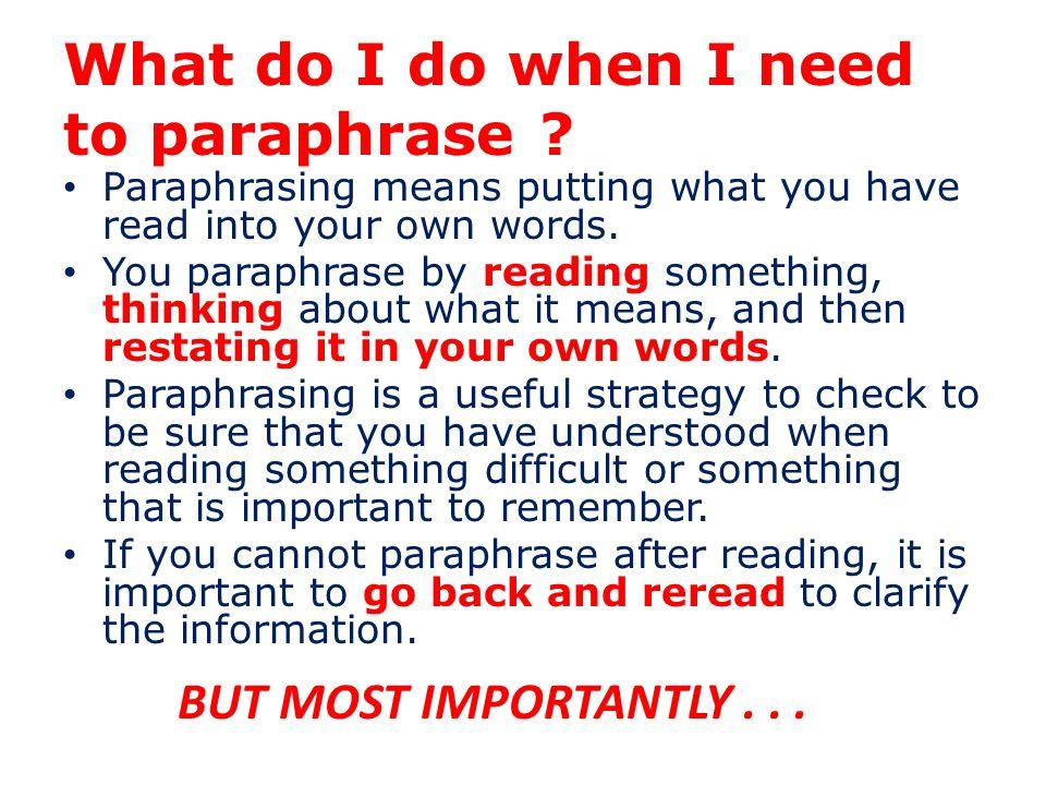 What is a Paraphrase? descriptive essay about a market place I.