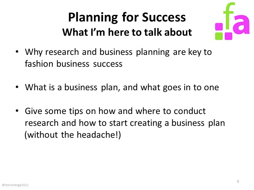 Business plan for fashion