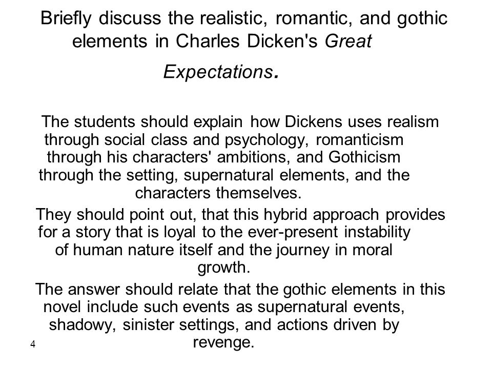 great expectations gothic settings Category: great expectations essays title: analysis of a scene from great expectations by charles dickens.