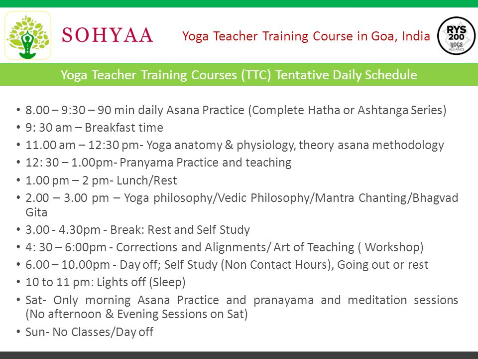 Yoga Teacher Training Course in Goa, India Yoga Alliance Accredited ...
