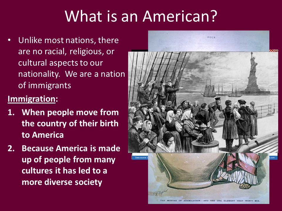 What is an american?