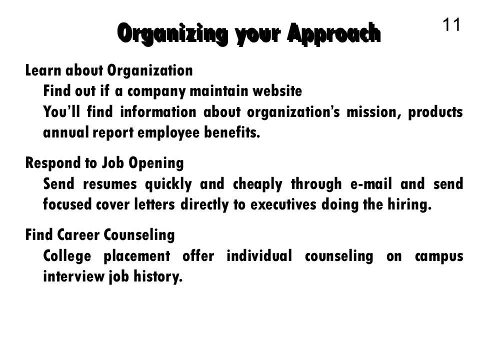 Business Communication 1. The Job Search Communication 2 Planning