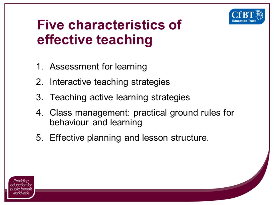 a report on five instructional strategies for classroom management