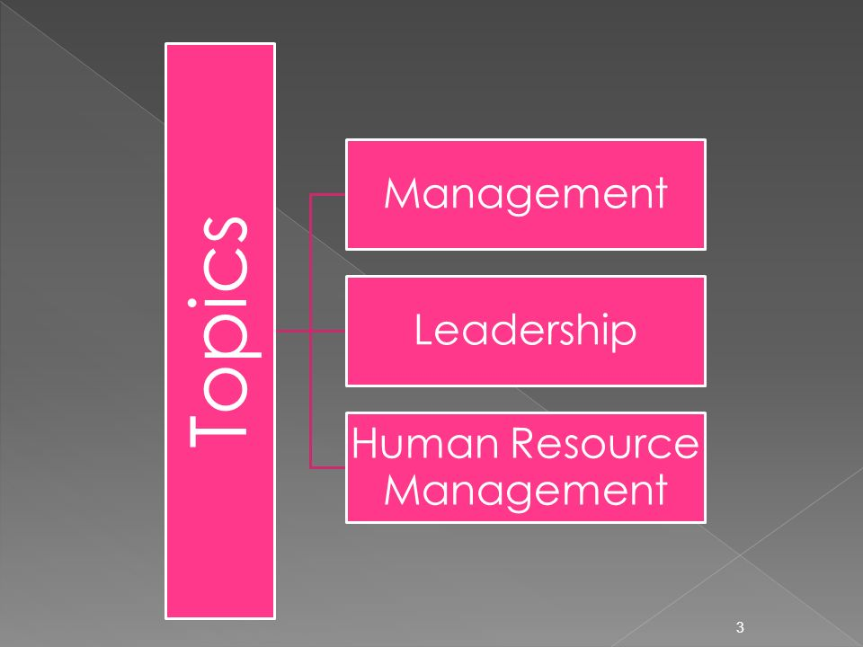3 Topics Management Leadership Human Resource Management