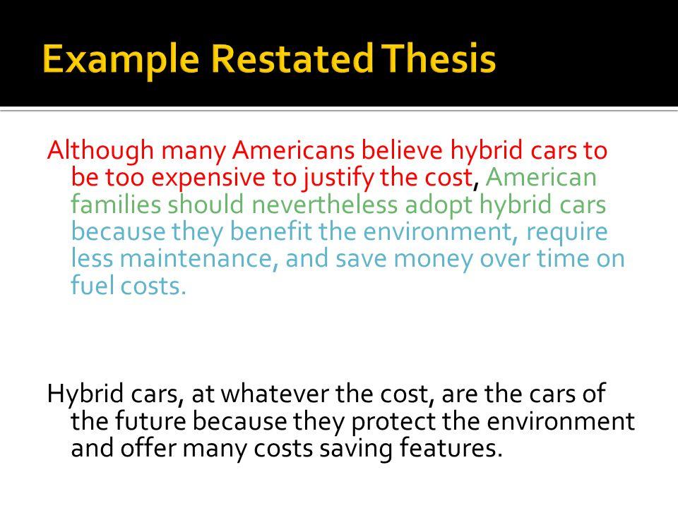 argumentative essay on electric cars