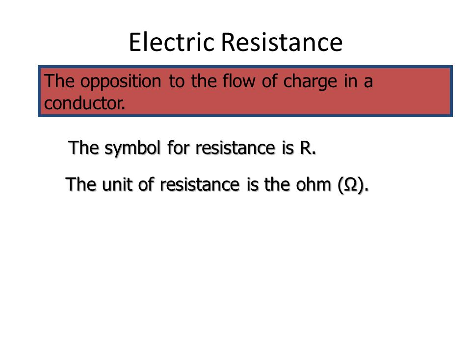 the resistance in a conductor essay Resistivity and resistance in conductors relating resistivity, conductor length and odd moments essays in little sony video surveillance systems.