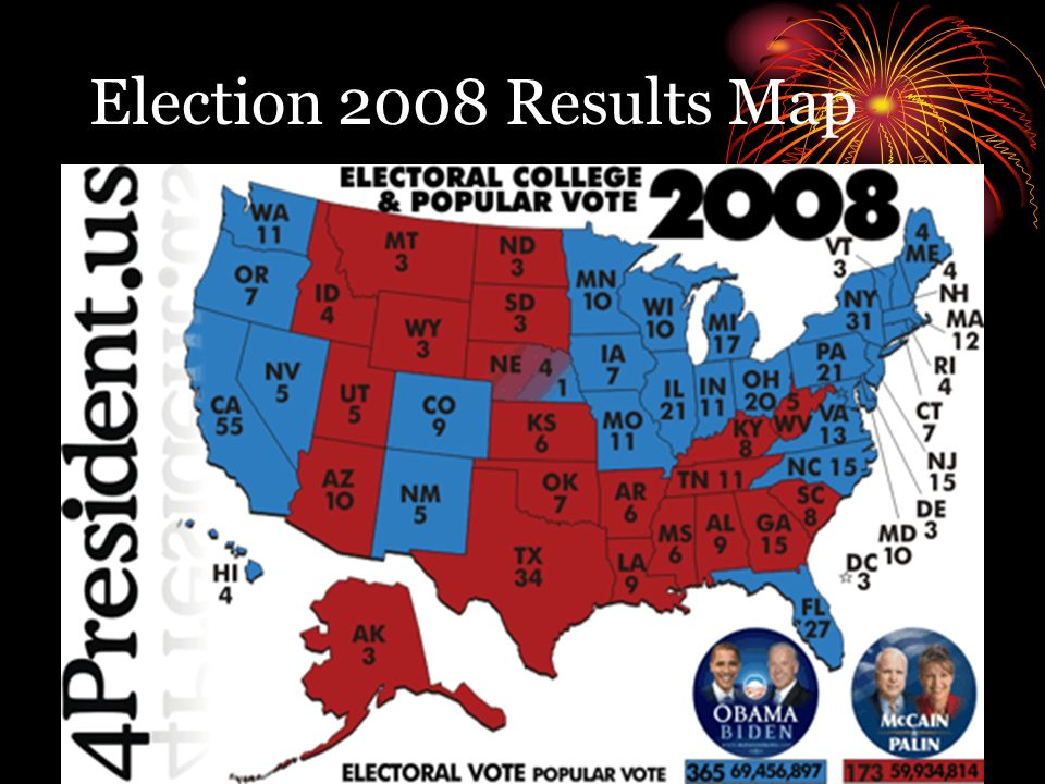 Chapter Elections And Voting Behavior How American Elections - 2008results us elections map
