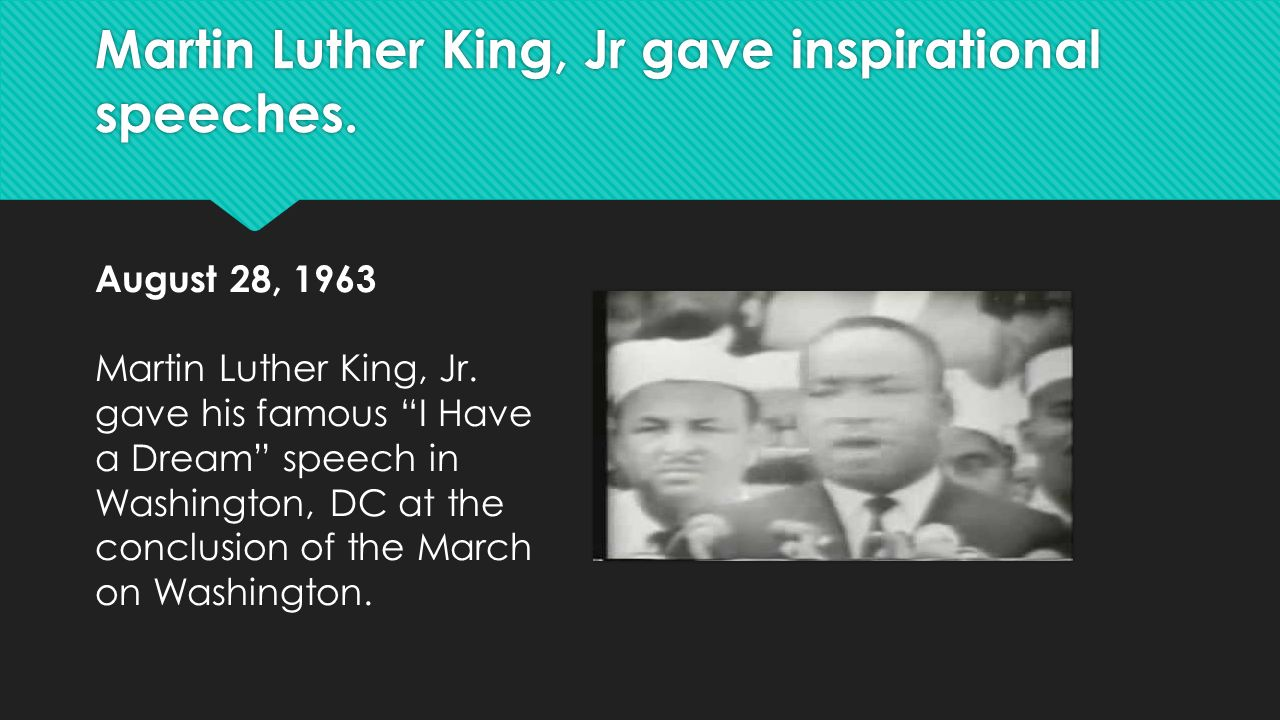 martin luther king jr essay on his speech Martin luther king, jr preached non-violent means for achieving racial and citizen equality this leson plan outlines and explains his philosophy, reasoning, and methods.