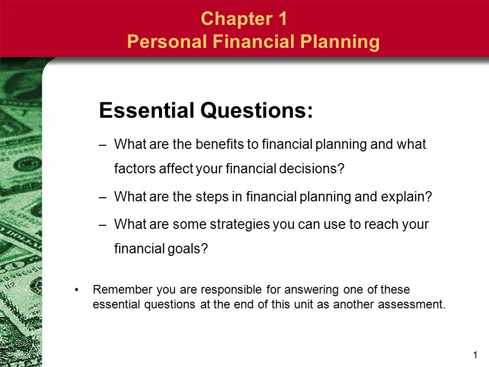 factors affecting financial plan
