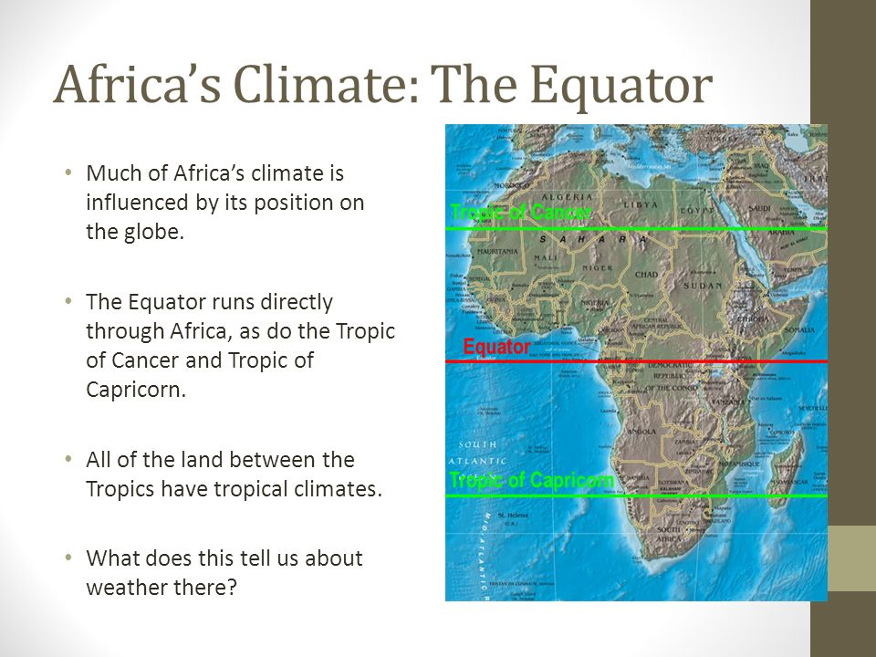 Africa Climate And Vegetation Chapter Section Ppt Download - What does a weather map tell us