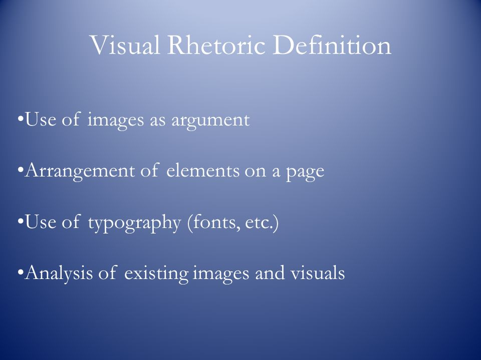 visual rhetoric examples