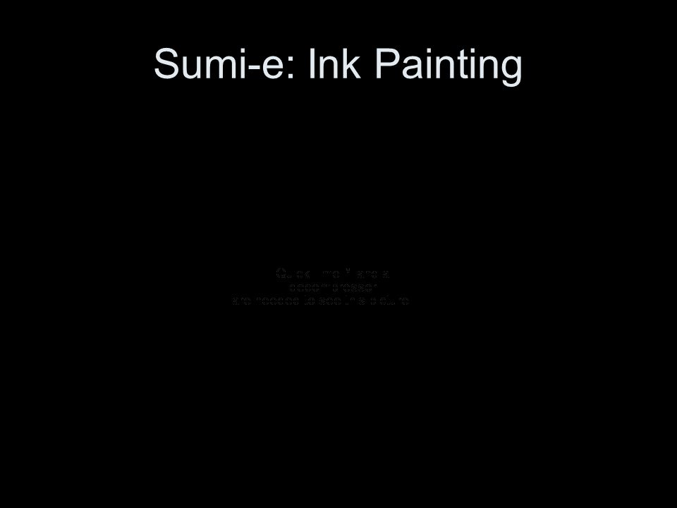 Sumi-e: Ink Painting
