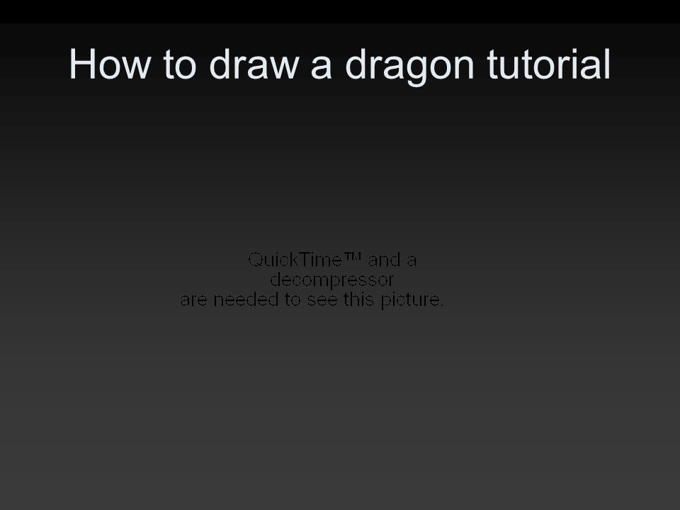 How to draw a dragon tutorial