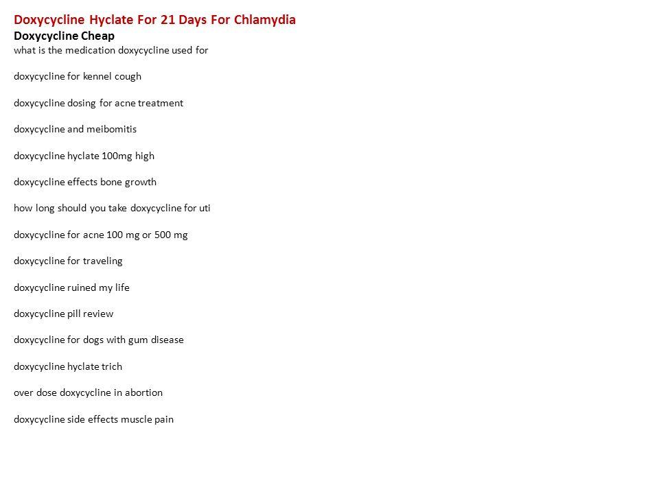 doxycycline hyclate for chlamydia dosage
