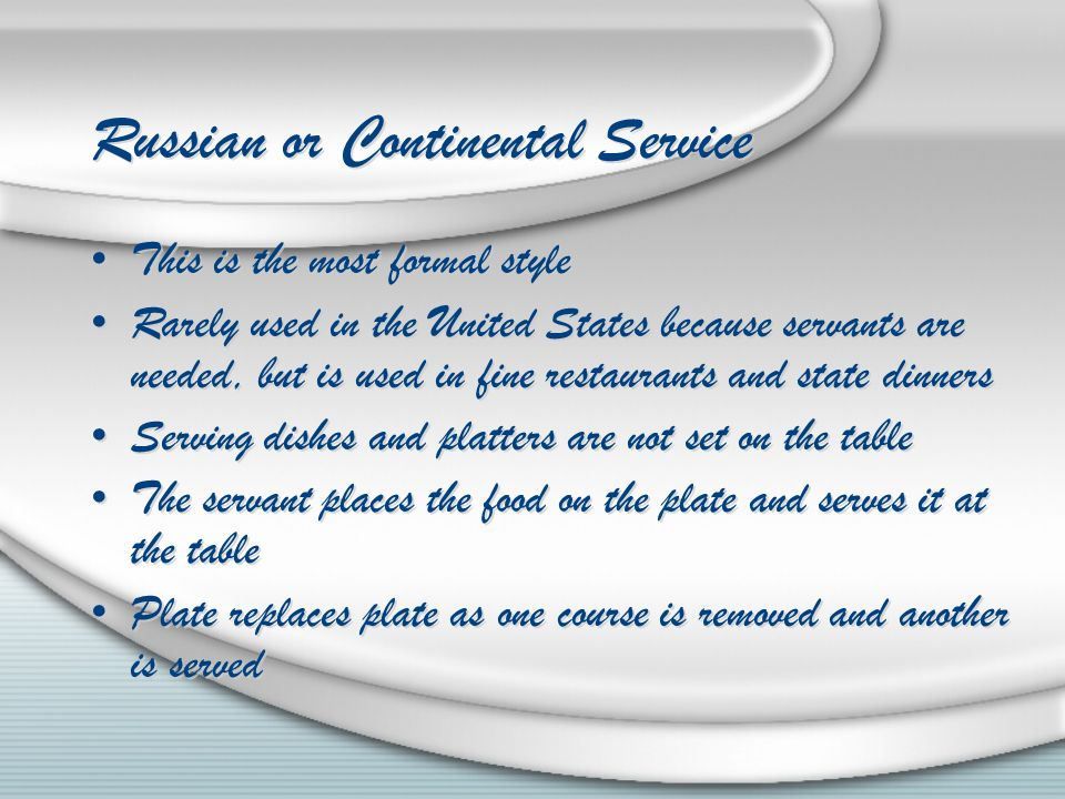 Serving Styles and Table Setting - ppt download