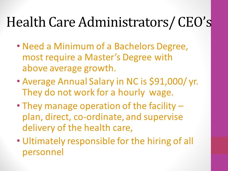 Jobs In Hospital/ Health Care Facility Service. Job Description