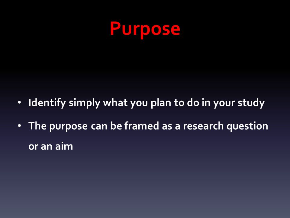 aim of the study dissertation