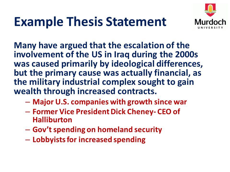complex thesis statement