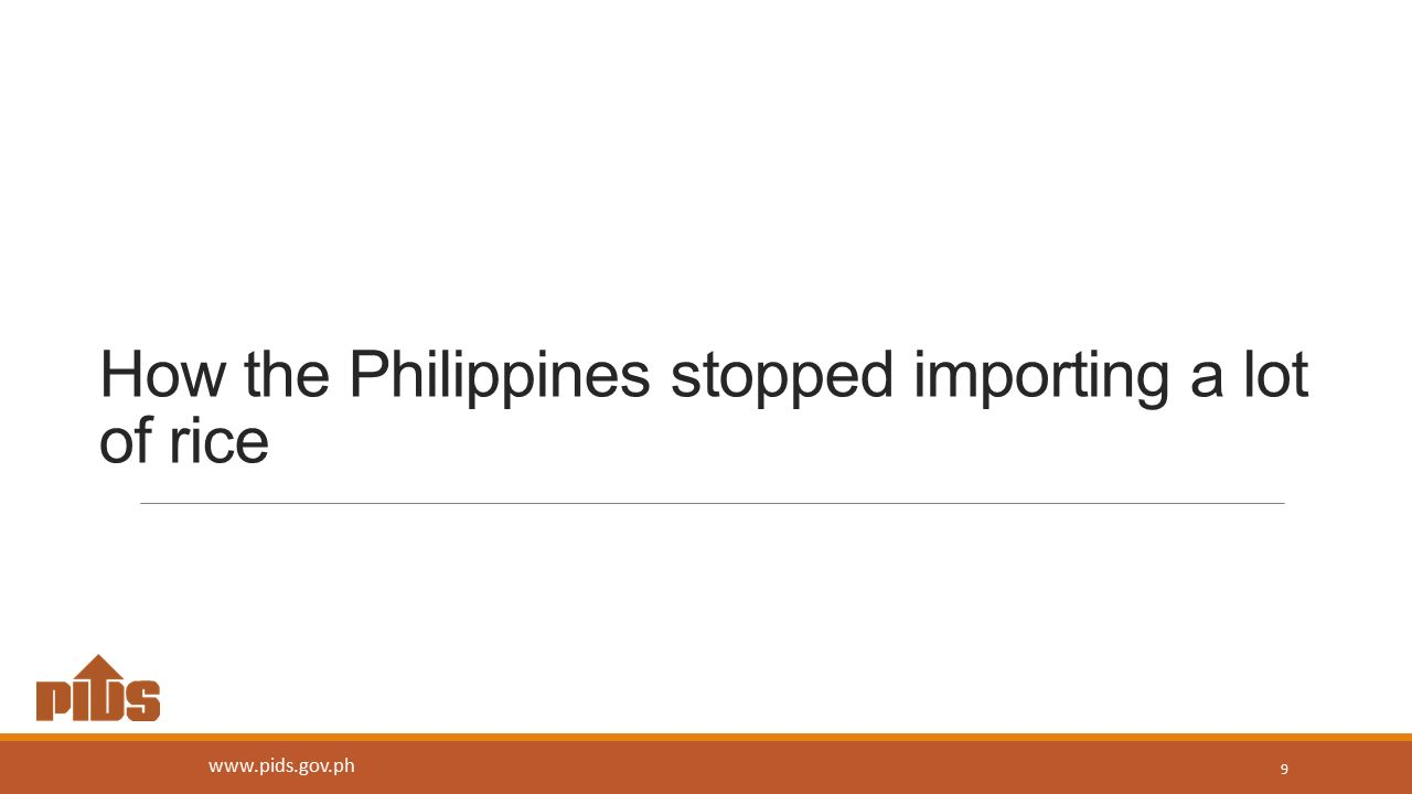 How the Philippines stopped importing a lot of rice 9