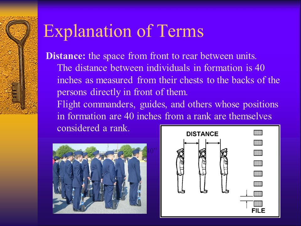 Explanation of Terms  Cadence - the uniform step and rhythm in marching.