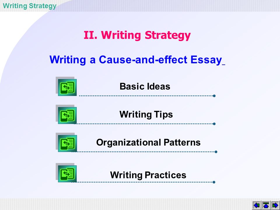 Tips for Causal Essay?