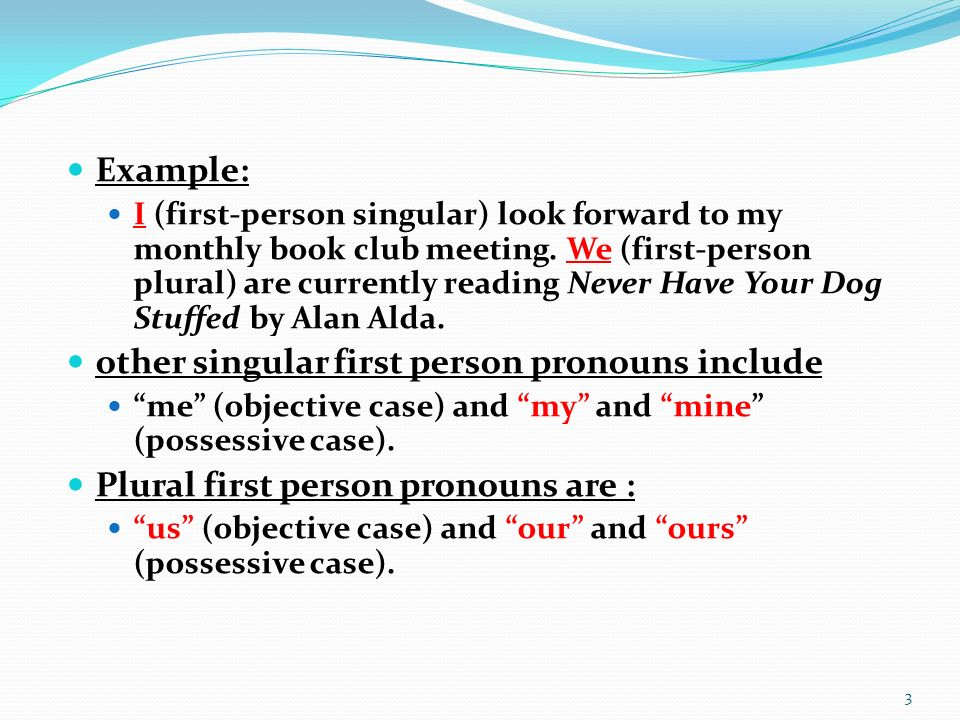 Grammar Lessons Pronouns 1 First Person In The Subjective Case The