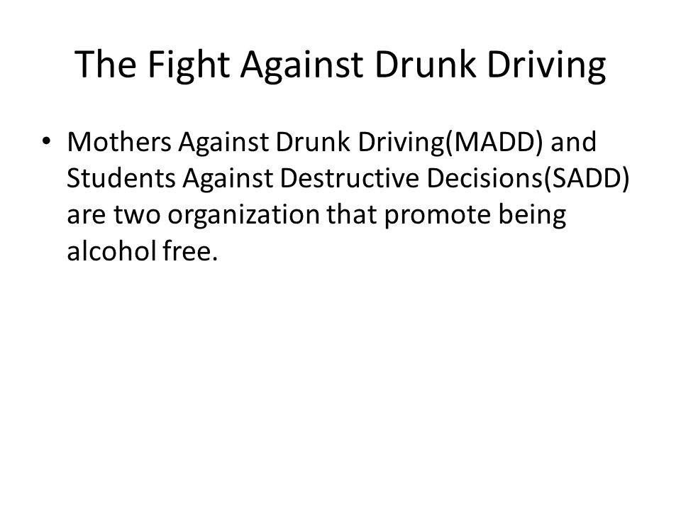 mothers against drunk driving essay