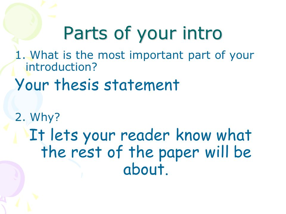 What are the parts of a term paper?