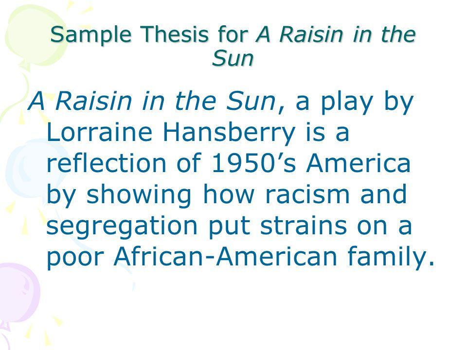 compare contrast a raisin in the