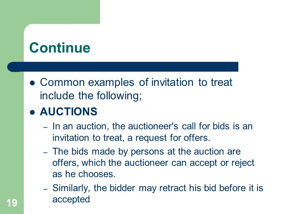 General law of contract by ileta 1 introduction a contract is continue common examples of invitation to treat include the following auctions in an auction stopboris Images