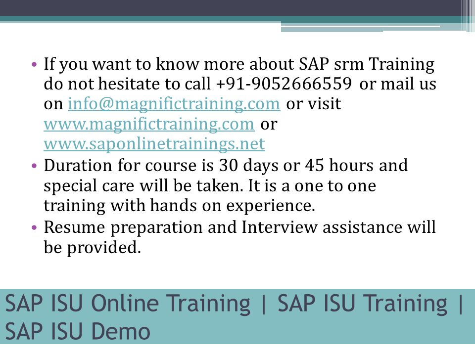sap isu online training sap isu training sap isu demo contact