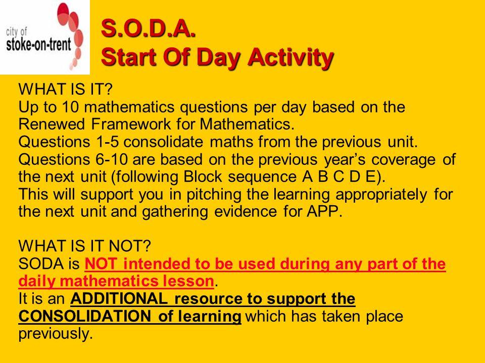 Soda start of day activity morning registration mathematics 2 soda fandeluxe Choice Image