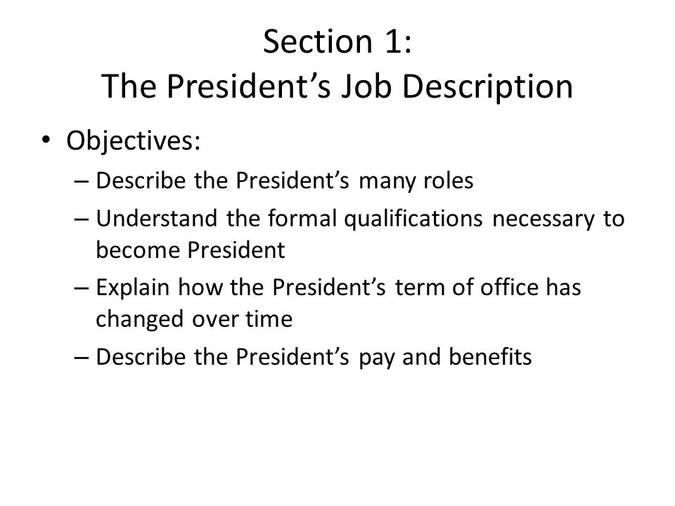 Chapter  The Presidency What Makes A Good President  Ppt Download
