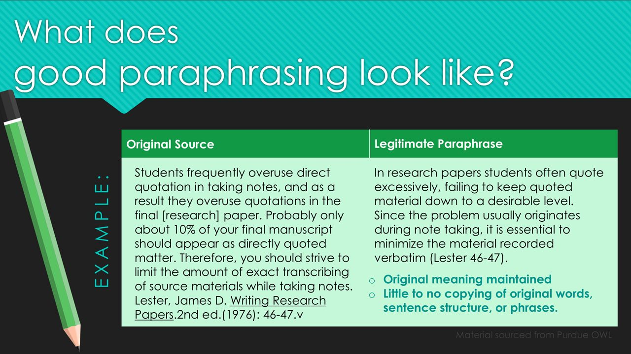 how to paraphrase a quote in a research paper Quoting, paraphrasing and summarizing are three 'why do i have to quote, paraphrase or summarize in papers' paraphrasing and summarizing your research.