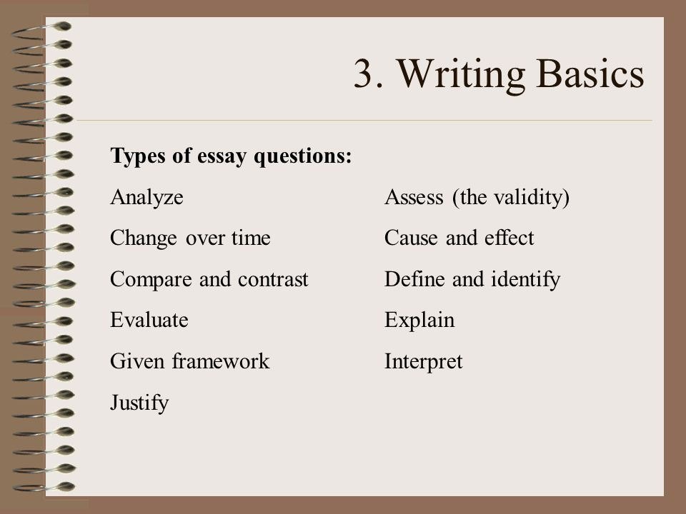 11 types of essay This resource begins with a general description of essay writing and moves to a discussion of common students' need to understand and produce these types of.