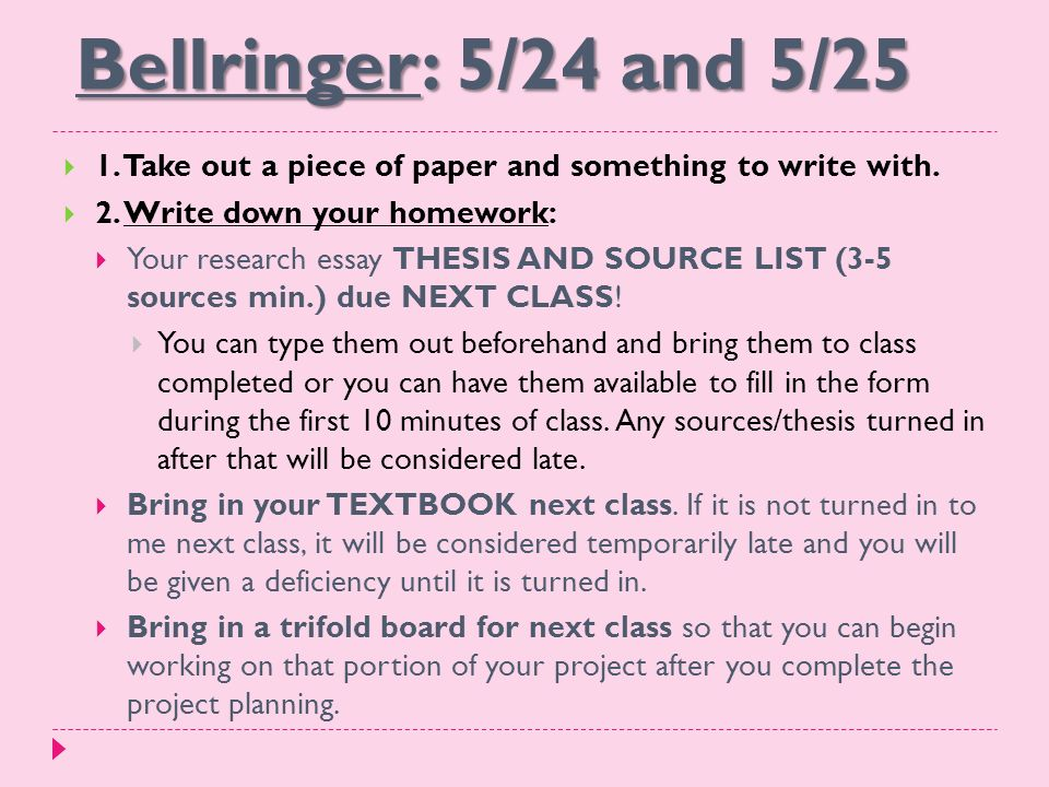 bellringer and  take out a piece of paper and  bellringer 5 24 and 5 25  1 take out a piece