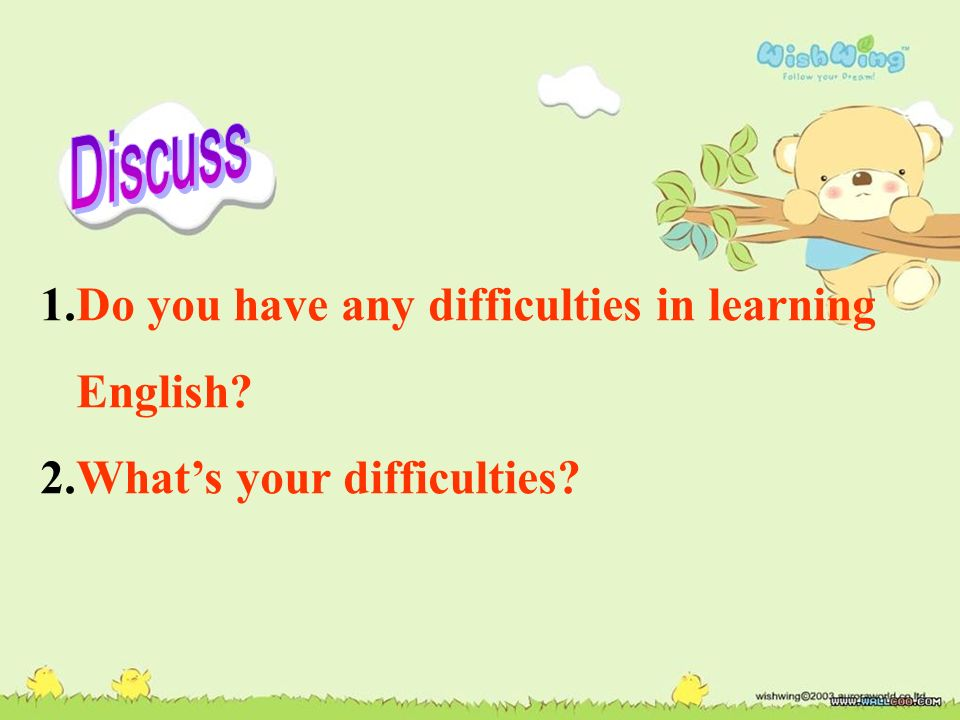 Section B Difficulties/ Challenges in learning English