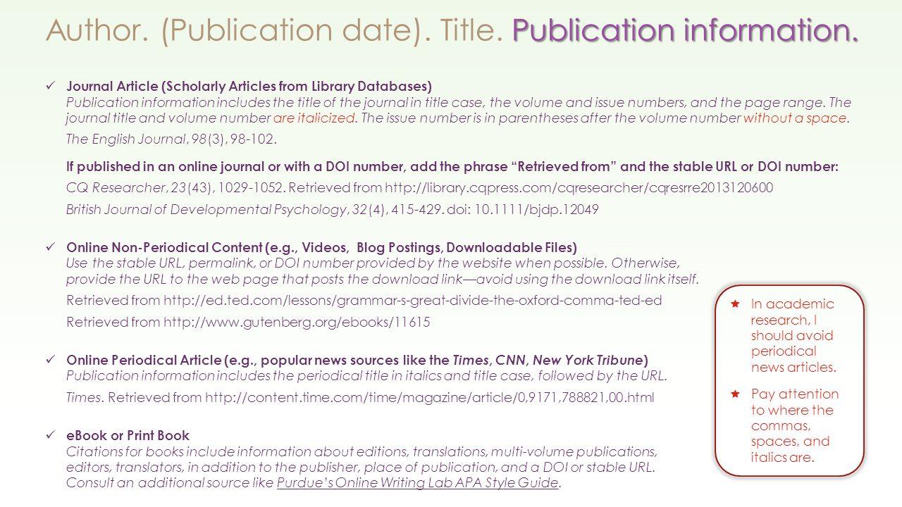 7 Publicationrmation