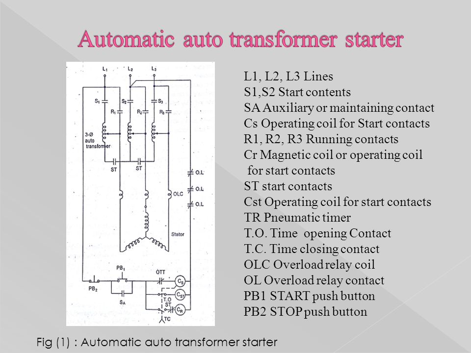 Perfect auto transformer starter circuit diagram sketch everything design of starters for ac motors ck pithawala collage of asfbconference2016 Gallery