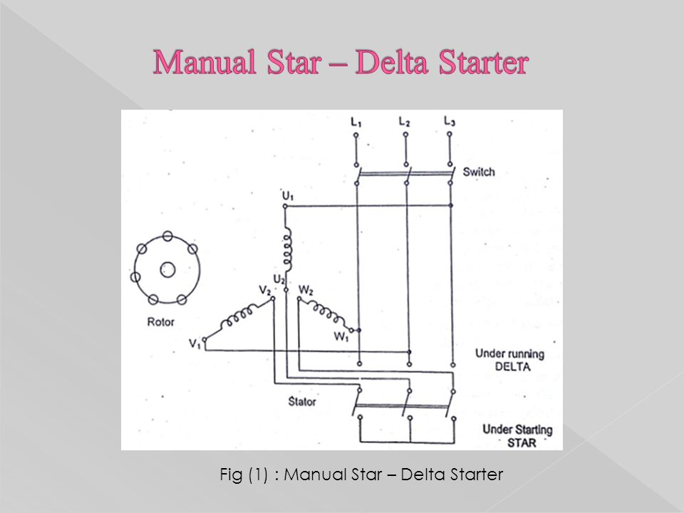 Design of starters for ac motors ck pithawala collage of 18 fig 1 manual star delta starter asfbconference2016 Image collections