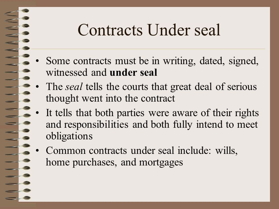 common contracts