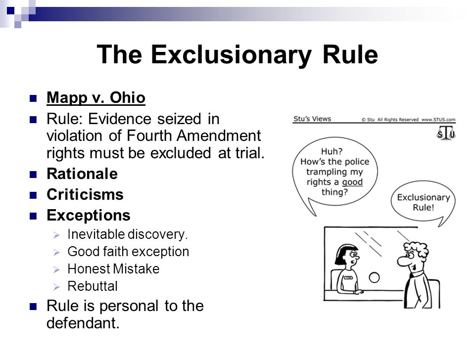 five exceptions to the exclusionary rule