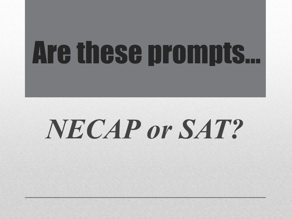 Can you score this SAT I essay on a scale of 1-6?