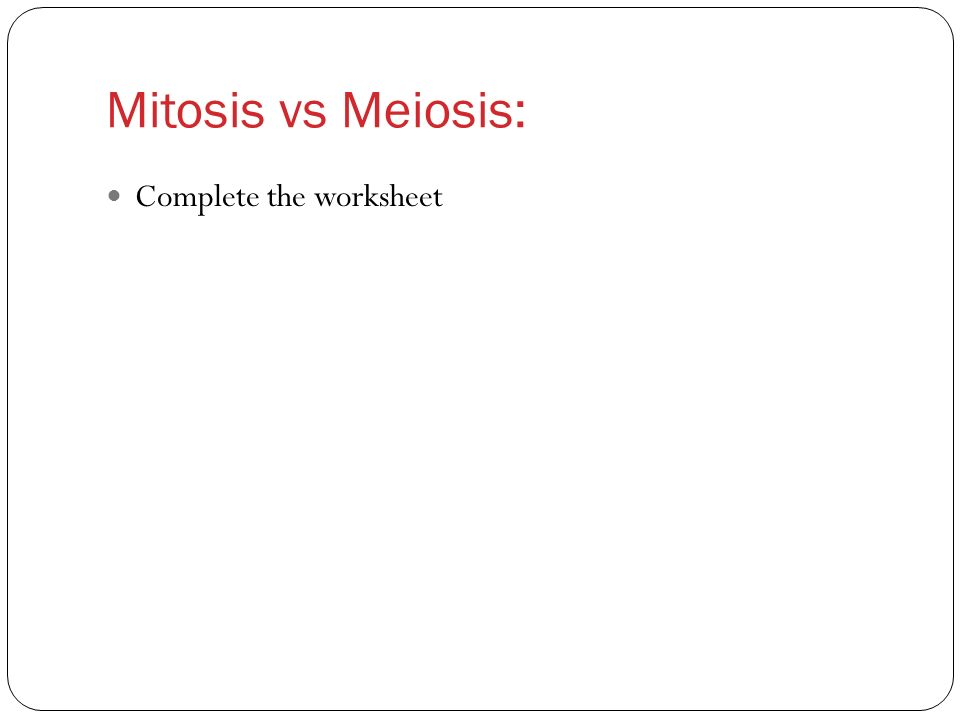 Worksheet Comparing Mitosis And Meiosis Worksheet comparing mitosis and meiosis worksheet key syndeomedia biology 12 gametogenesis ppt