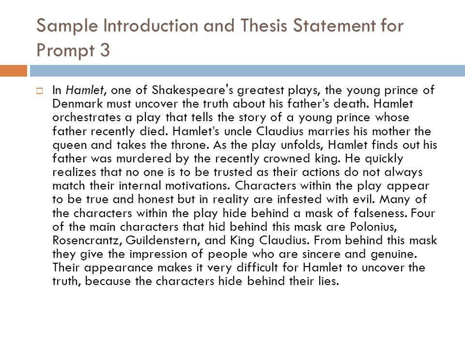 Thesis Statement For Character Analysis