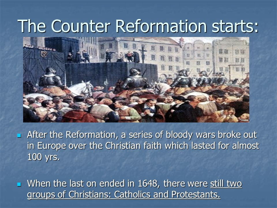 counter reformation The counter-reformation was a movement within the catholic church to reform itself in the wake of the protestant reformation the term.