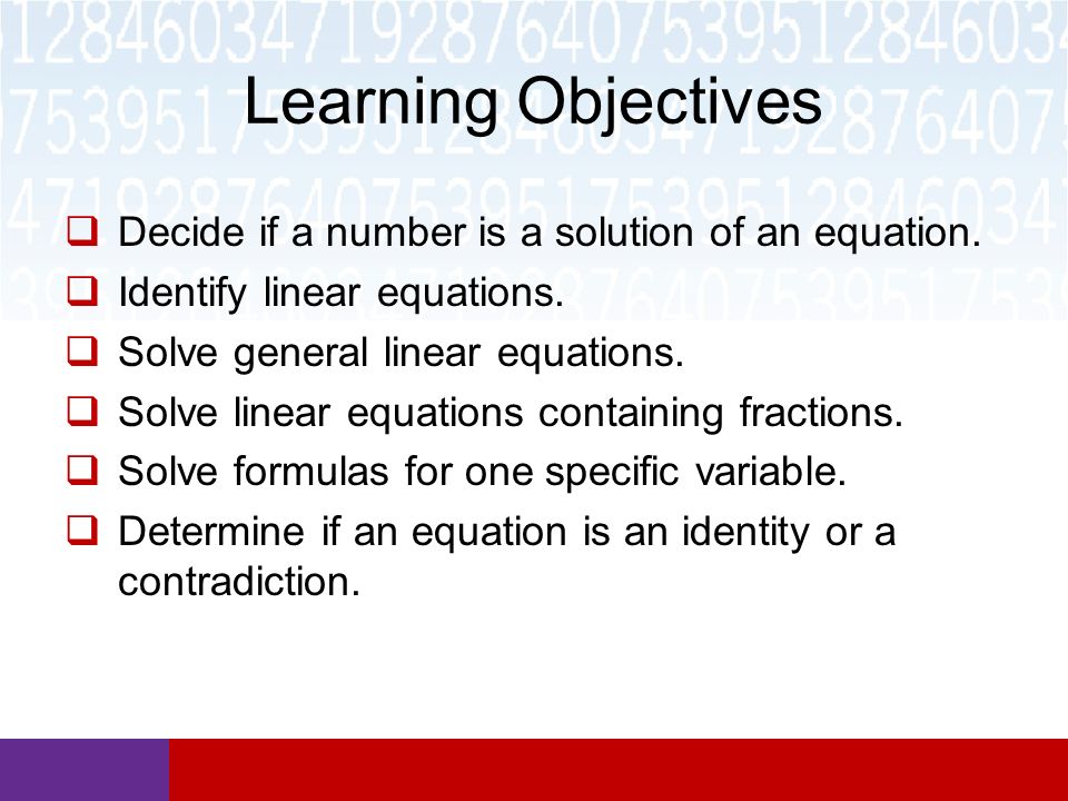 Section 6.2 Solving Linear Equations Math in Our World. - ppt download