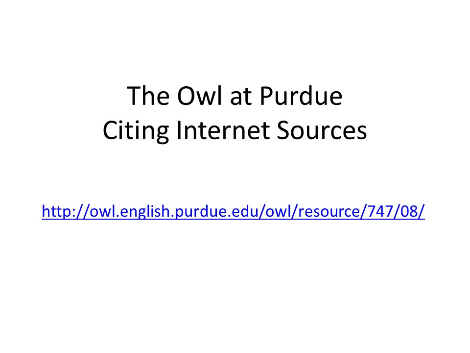owl at purdue mla research papers