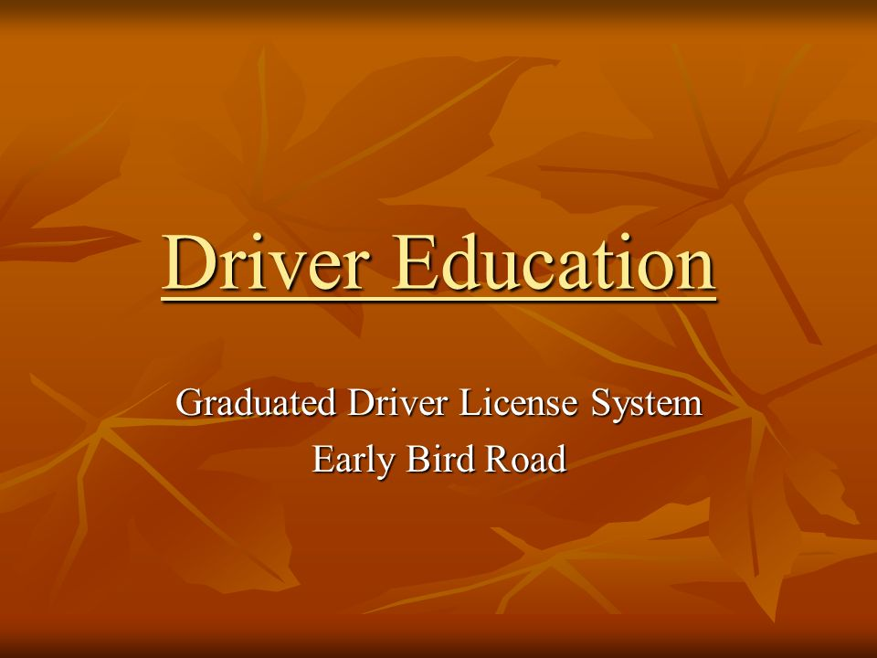 ch 6 project drivers ed Buckle up sign project and seat belt survey forms chapter 6 – safe driver readiness (17:27) to teach traffic education in montana's public schools.